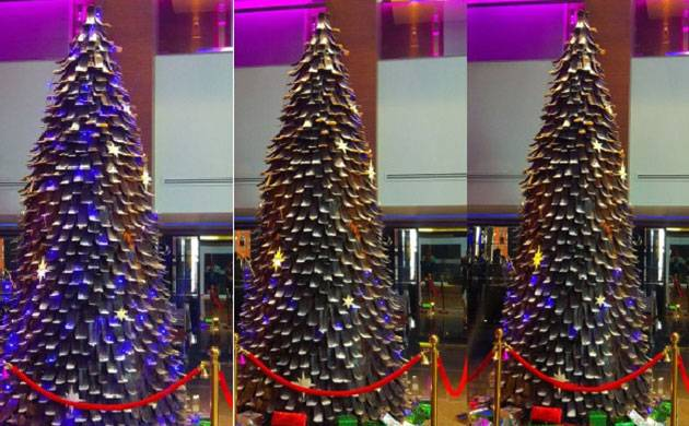 The Chocolate Christmas tree was prepared in 2 weeks and doesn't require any specific temperature to sustain its ready form