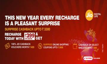 Jio 'Surprise cashback' offer doles out benefits up to Rs 3,300 for Prime subscribers