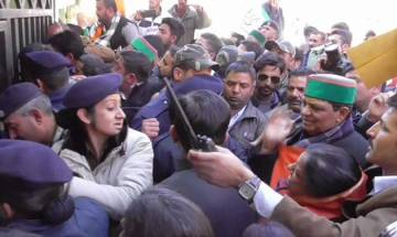 Video: Himachal Congress MLA slaps lady constable, gets a tighter one in return