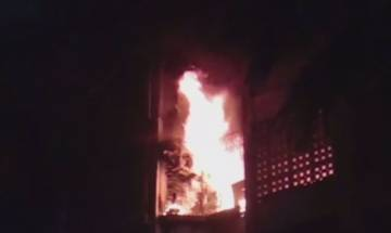 Video   Fire at Maimoom building in Mumbai leaves 4 dead, several injured