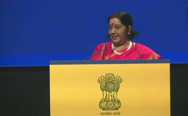 External Affairs Minister Sushma Swaraj (Source: ANI Twitter)