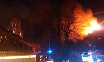 Fire breaks out in University of Bristol's new building in UK