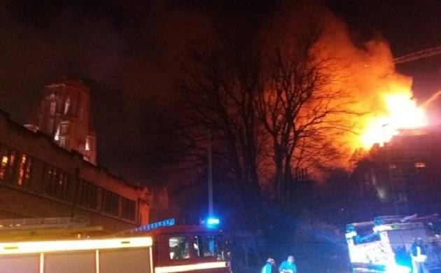 Fire breaks out in University of Bristol's new building in UK (File Photo)