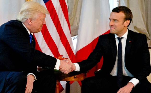 Trump with his French counterpart Emmanuel Macron (Source: PTI)