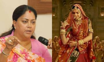Padmavat NOT to release in Rajasthan; CM Raje says 'Will not allow defamation of Rani Padmini's honor'