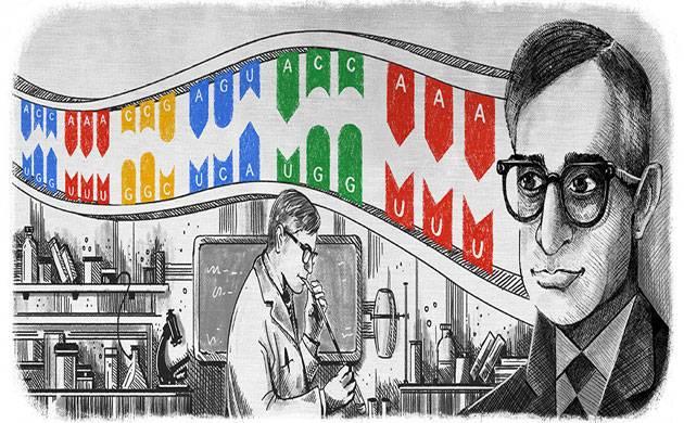 Google remembers Nobel prize-winning biochemist Har Gobind Khorana on his birth anniversary (Source: Google)