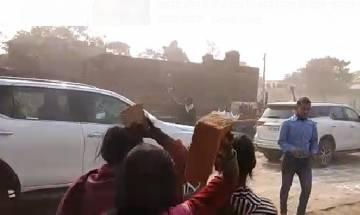 Villagers hurl stones at Bihar CM Nitish Kumar's cavalcade in Buxer; 2 police personnel injured