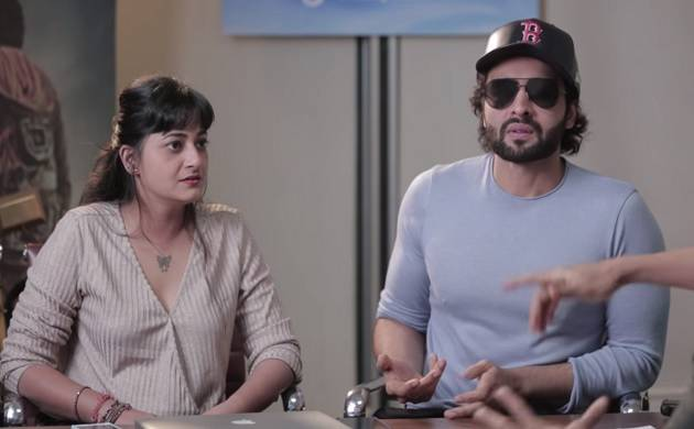 Jackky Bhagnani makes fun of himself in a hilarious video(Image Courtesy: Screenshot from Youtube video)