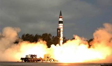 Watch   India successfully test-fires nuclear capable ballistic missile Agni-V off Odisha coast