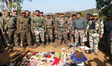 Jharkhand: Security forces thwart Maoist attempt to hoist 'black flag' during Republic Day in Saranda, munition recovered
