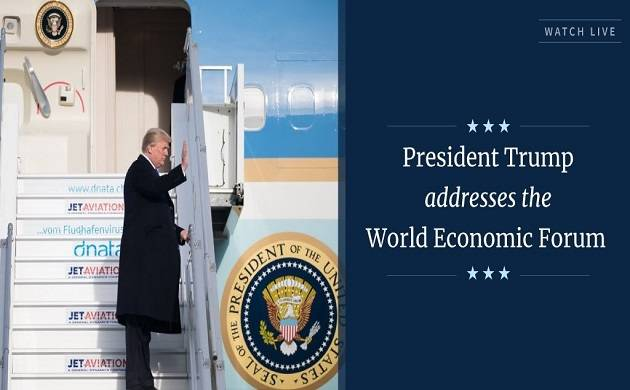 World Economic Forum 2018 LIVE: US President Donald Trump says America first does not mean America alone
