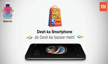 'Desh ka Smartphone' Xiaomi Redmi 5A now available in Big Bazaar outlets