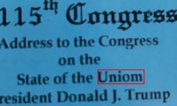 Minor spelling mistake has Donald Trump on backfoot