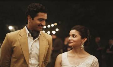 100 days to go for Raazi: Alia Bhatt-Vicky Kaushal look PASSIONATELY in each other's eyes (see pic)