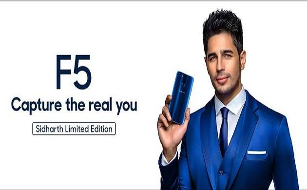 Oppo to launch F5 Sidharth Limited Edition in Blue tomorrow (Photo Source: Twitter @oppomobileindia)