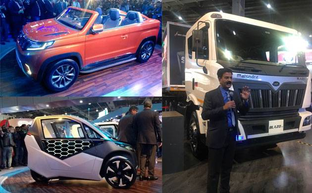 Auto Expo 2018: Mahindra's 'future of mobility' displayed! Unveils six new electric conceptual vehicles! (Source: Twitter)