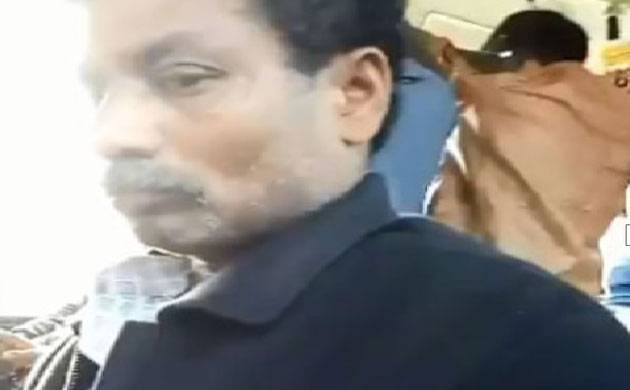 The man who allegedly flashed in front of a Delhi University girl in a DTC bus (Source: Twitter/ victim's account)