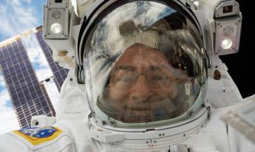 Two NASA astronaut's spacewalk outside the International Space Station today