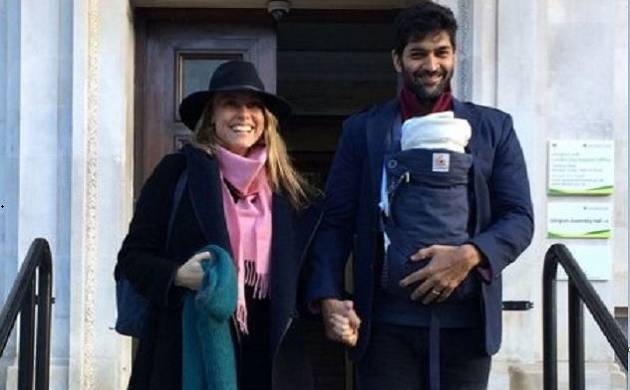 Purab Kohli with wife Lucy Paton and daughter Inaaya (Photo Source: Twitter)