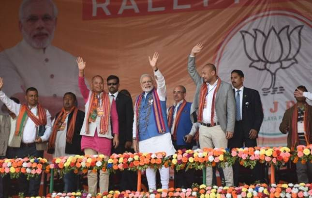 PM Modi in Meghalaya Live updates   Ruling government recognised for scam in teachers recruitment: PM Narendra Modi (Photo Source: BJP Twitter handle)