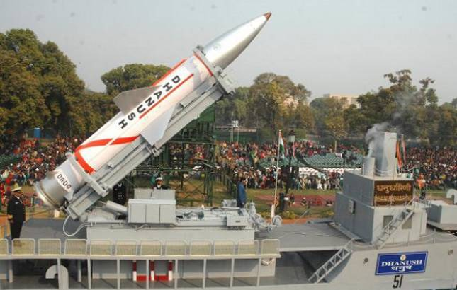 India successfully test fires nuclear-capable 'Dhanush' ballistic missile from Odisha coast (Photo Source: PTI)