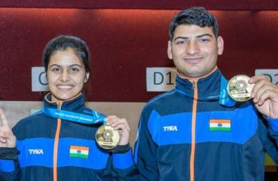 ISSF World Cup: Bhaker-Mitharval pair clinch gold; Deepak-Mehuli Gosh clinch bronze in mixed events, India's medal tally reaches seven