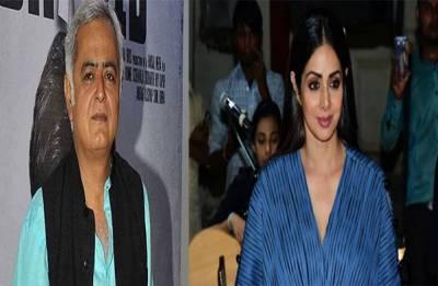 Hansal Mehta REVEALS the details of film he was set to OFFER Sridevi