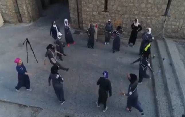 Saudi Arabia: Women exercise their new right to jog on Women's Day (Source- Screengrab)