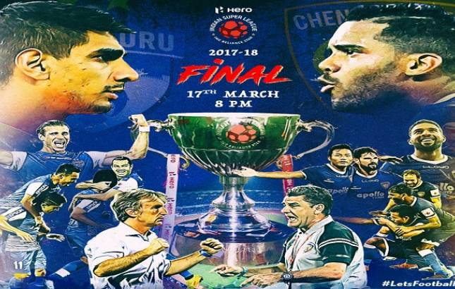 Bengaluru FC will take on Chennaiyin FC in the final ISL. (Image Source: Hero ISL Final twitter)