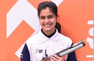Manu Bhaker shoots gold in ISSF junior World Cup