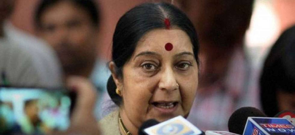 EAM Sushma Swaraj re-tweets Congress' poll assessing her 'failure' as Foreign Minister (Source: PTI)