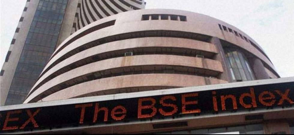 Sensex skids 206 pts; ends FY18 with 11.30 per cent gains (Source: PTI)