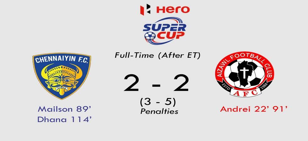 Aizawl FC beat Chennaiyin FC 5-3 (penalties) (Image Source: Aizawl FC twitter)