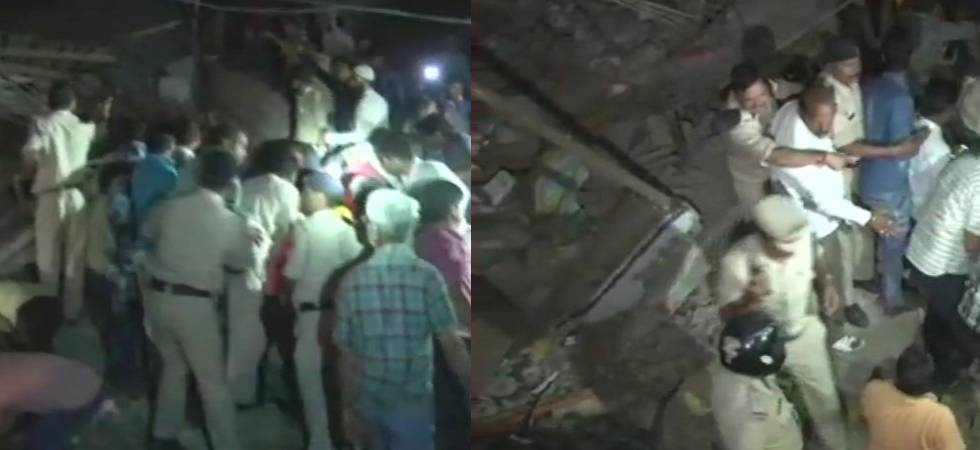 Indore Building Collapse: Death toll rises to four, rescue operations underway (ANI Photo)
