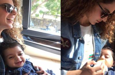 AWW-DORABLE! Kangana Ranaut's new picture with nephew is too CUTE to miss