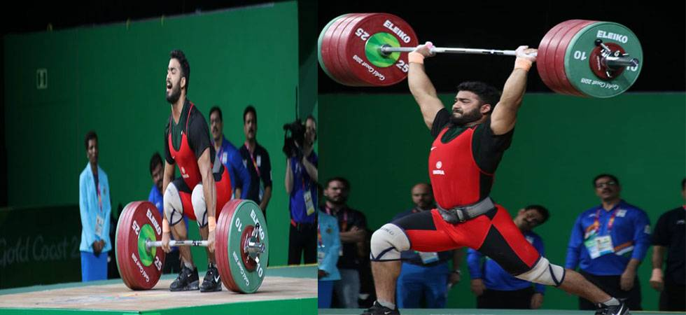 CWG 2018: Weightlifter Vikas Thakur clinches bronze in 94kg category (Source- SAI's Twitter)
