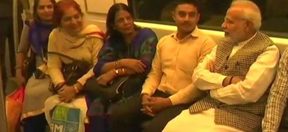 PM Modi commutes in Delhi Metro to attend Ambedkar memorial event
