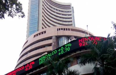 Sensex rises over 100 points, Nifty near 10,500-mark