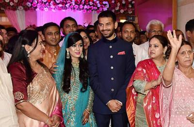 Lalu Yadav's son Tej Pratap exchanges rings with Aiswarya Rai, marriage on May 12