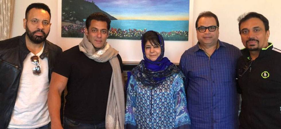 Salman Khan in Kashmir to shoot for 'Race 3', meets CM Mehbooba Mufti
