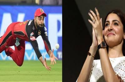 IPL 2018: Anushka Sharma's ADORABLE reaction over Virat Kohli's stunning catch