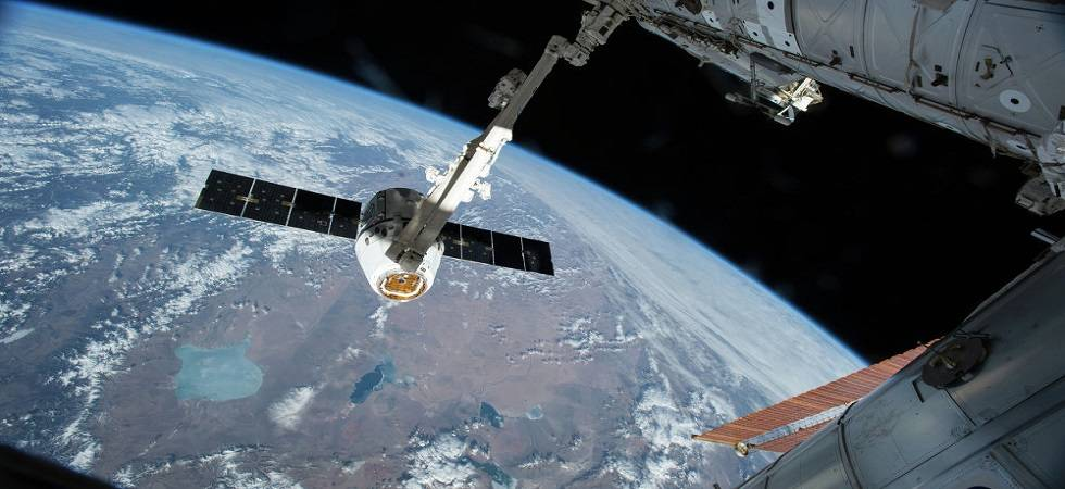 SpaceX's unmanned Dragon cargo ship left the International Space Station (Source: PTI)
