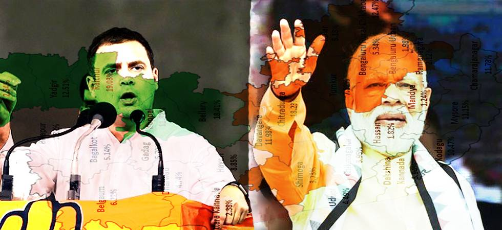 From PM Modi's 'Antonio Maino' jibe to Amit Shah's epic blooper and Rahul Gandhi's aggressive campaigning to Sonia Gandhi's comeback, the run-up to the Karnataka elections has been a serious and stormy affair