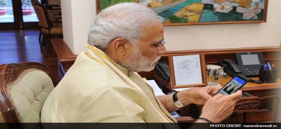 Narendra Modi has interacted with 25 lakh people via 'NaMo' app. (Source: PTI)