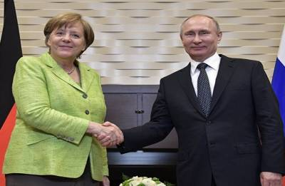 Russian President Vladimir Putin, German Chancellor Angela Merkel discuss Iran nuclear deal
