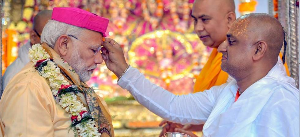 PM Narendra Modi playing drum in Nepal (Photo: Twitter/MEA)