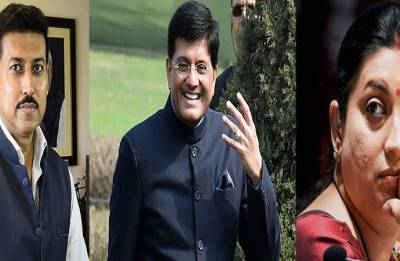 Union Cabinet reshuffle: Smriti Irani replaced by Rajyavardhan Rathore as I&B minister, Piyush Goyal gets finance