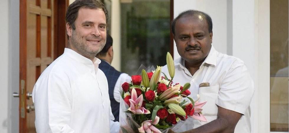 HD Kumaraswamy meets Rahul Gandhi, Sonia Gandhi in Delhi (Photo Source: ANI)