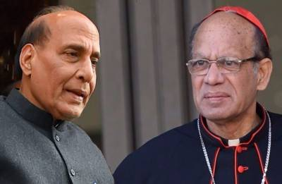 Day after Delhi Archbishop's letter, Catholic Bishops Conference head meets Rajnath Singh