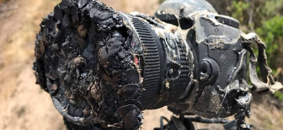 NASA camera melted by grass fire captures its own demise (Photo Source: NASA)